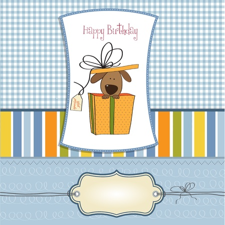 dog gift: funny birthday card with dog  Illustration