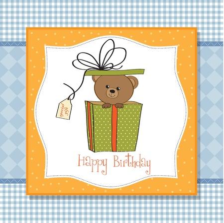 birthday greeting card with teddy bear Stock Vector - 11842091
