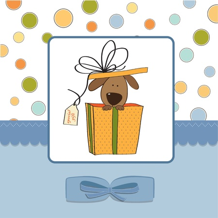 funny birthday: funny birthday card with dog  Illustration