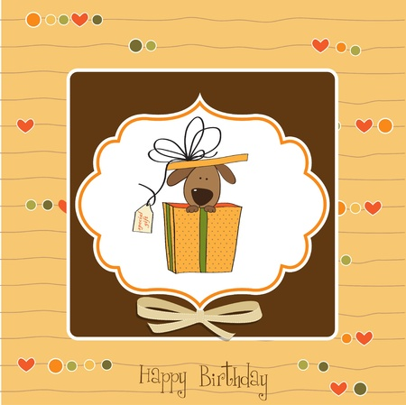 Funny Birthday Card With Dog Royalty Free Cliparts Vectors And