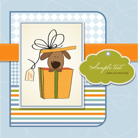 show dog: funny birthday card with dog  Illustration