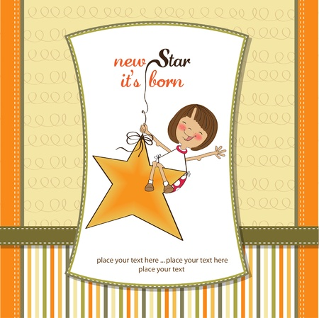 specifically: new star its born.welcome baby card