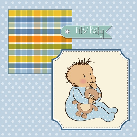 romantic baby boy shower card  Vector