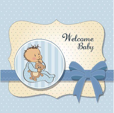 baby birthday: romantic baby boy shower card