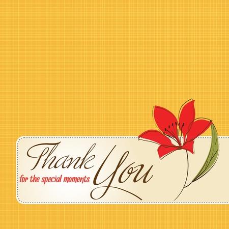 gracias a la tarjeta de felicitaci�n con flores