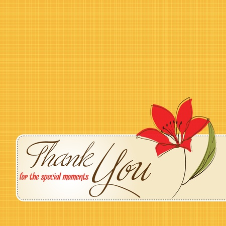 thank you card: thank you greeting card with flower