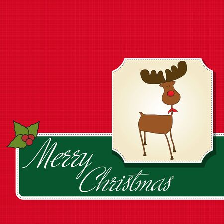Christmas greeting card Stock Vector - 12466422