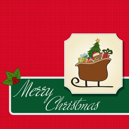 christmas sleigh: Christmas sleigh with gifts