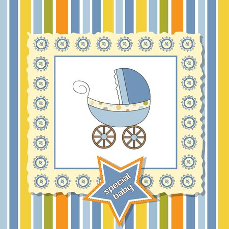 shower card with pram  Vector