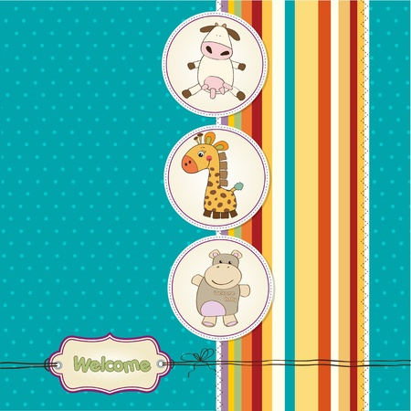 playfulness: baby shower card with toys