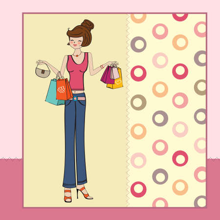 refine: pretty young lady at shopping