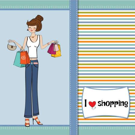 libertine: pretty young lady at shopping