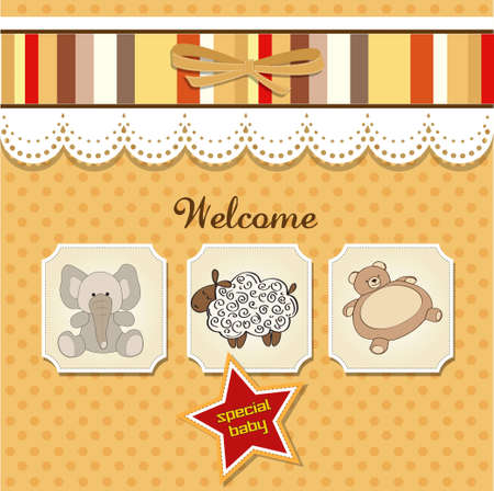 special events: baby shower card with toys