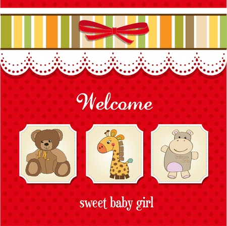 emotional love: baby shower card with toys