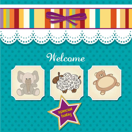 specifically: baby shower card with toys