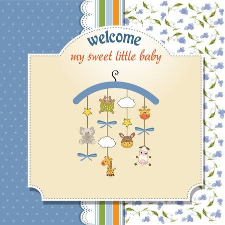 carousel: welcome baby announcement card