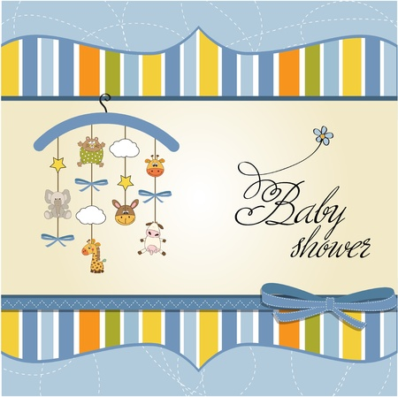 baby romantic: baby announcement card  Illustration