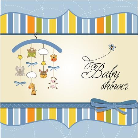 invitacion baby shower: beb� anuncio de la tarjeta Vectores