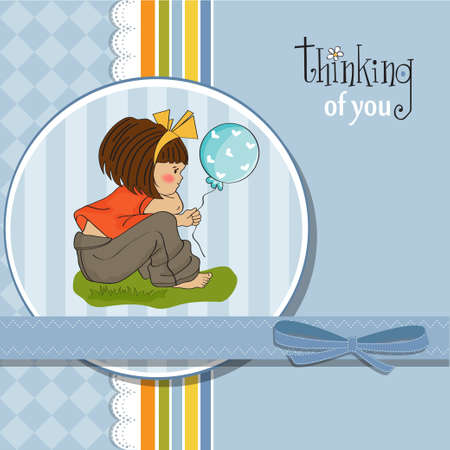 pretty young girl sitting Stock Vector - 12703369