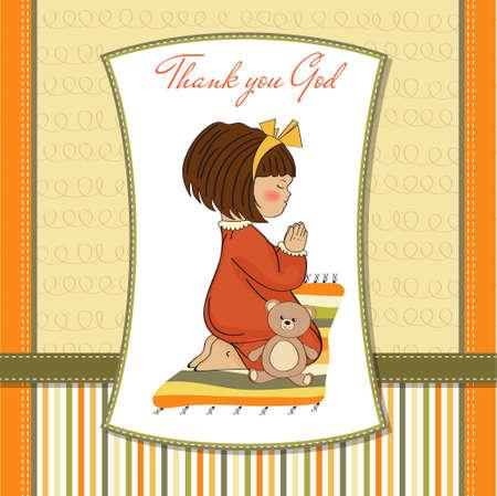 little girl praying Stock Vector - 12703332