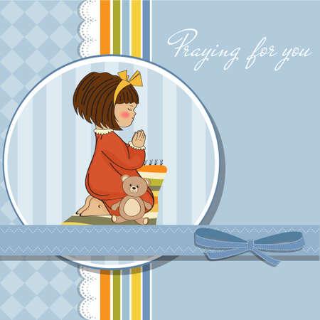 meditation pray religion: little girl praying