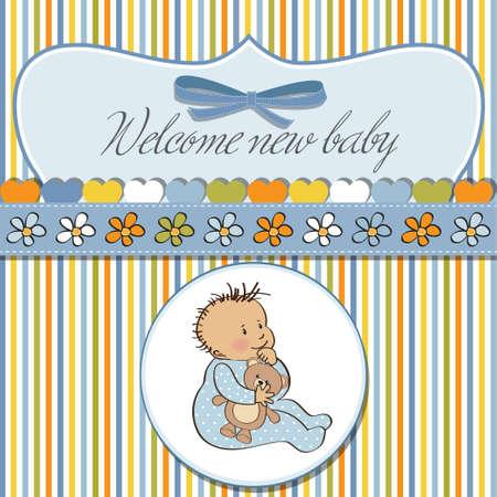 romantic baby shower card Stock Vector - 12703310