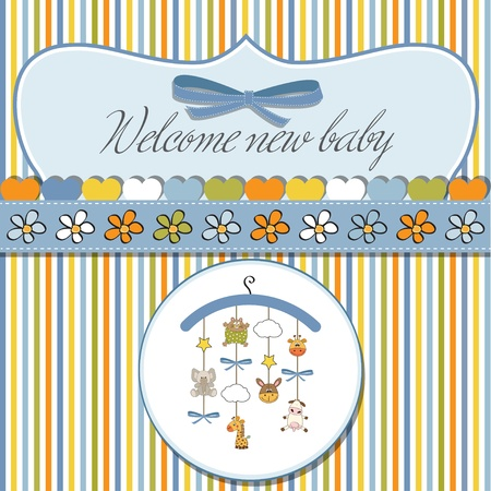 romantic baby shower card Stock Vector - 12704166