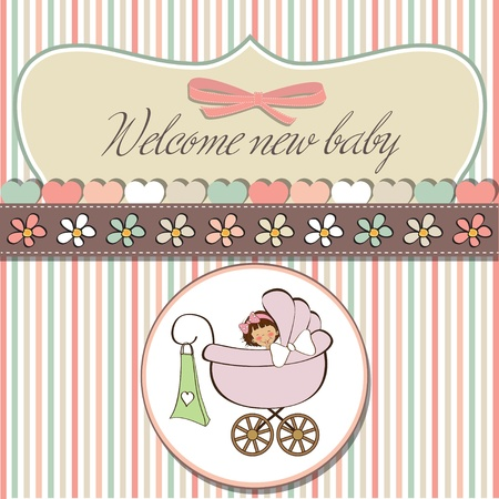 baby announcement: romantic baby shower card