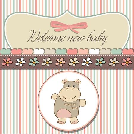 hippopotamus: beb� rom�ntica tarjeta de ducha