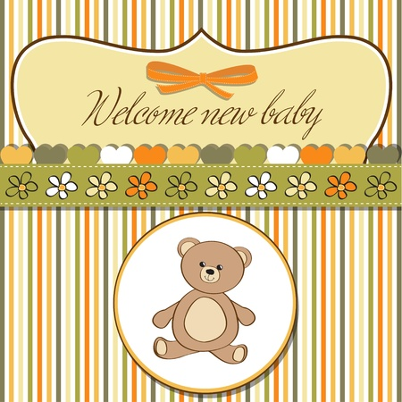 romantic baby shower card Stock Vector - 12703261