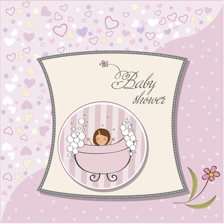 romantic baby shower card  Stock Vector - 12748868