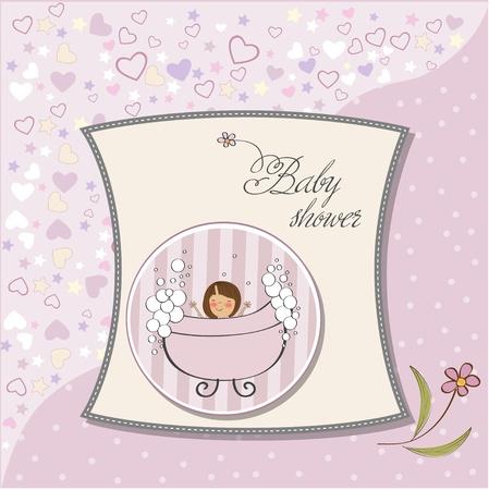 romantic baby shower card Stock Vector - 12748868