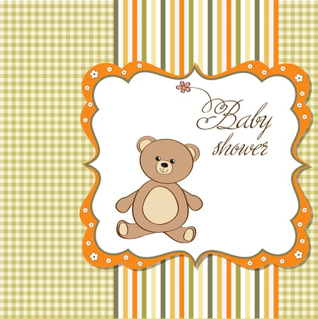 nestling: romantic baby shower card