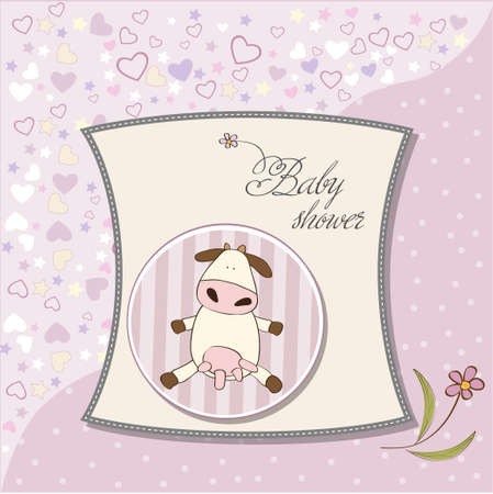 specifically: delicate girl shower card  Illustration