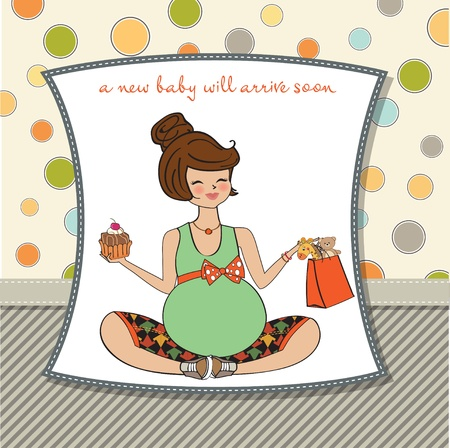 Beautiful pregnant woman  Vector