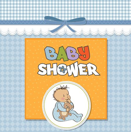 nestling: baby announcement card with little boy