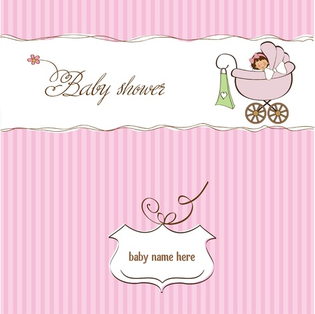 birth announcement: baby girl announcement card