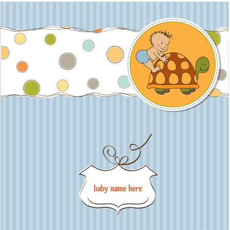 funny baby shower card Stock Vector - 12786053