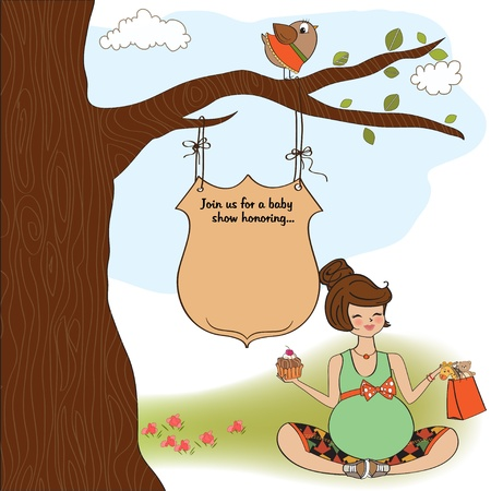 baby shower announcement card Illustration