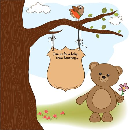 baby bear: baby shower announcement card