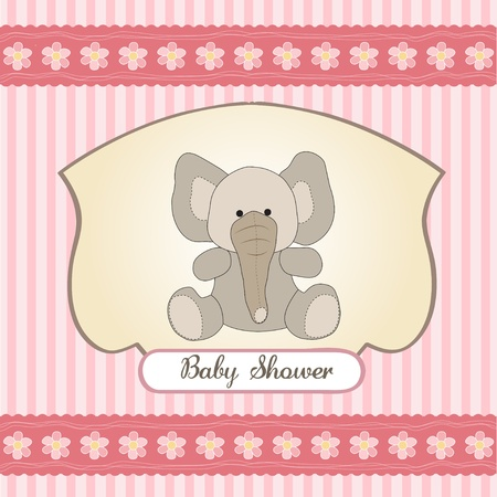 specifically: romantic baby girl announcement card