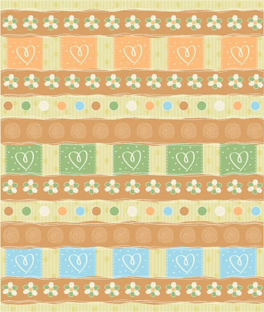 Beautiful and vintage seamless background Stock Vector - 12786419