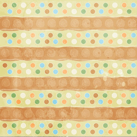 Beautiful and vintage seamless background  Vector