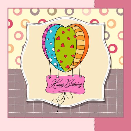 happy birthday card with balloons Stock Vector - 12786351