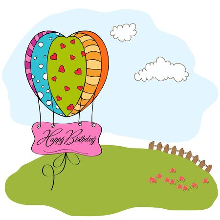 happy birthday card with balloons Stock Vector - 12786296