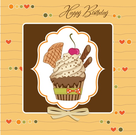 Birthday cupcake Stock Vector - 12786430