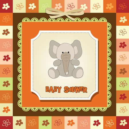 romantic baby announcement card