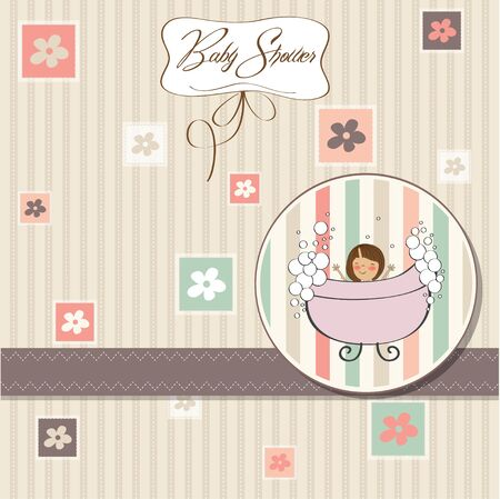 romantic baby shower card  Stock Vector - 12786581