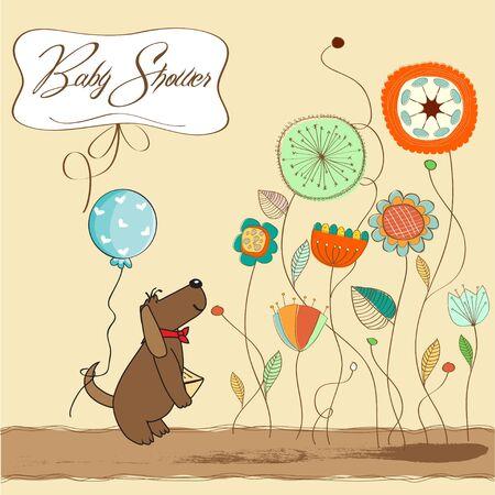 playfulness: baby shower announcement card