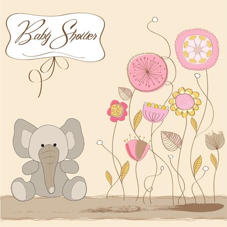 invitacion bebe: beb� rom�ntica anuncio de la tarjeta